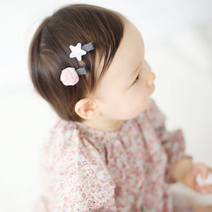 100% Handmade Kids Star and Ball Hairclips Set A323G81A