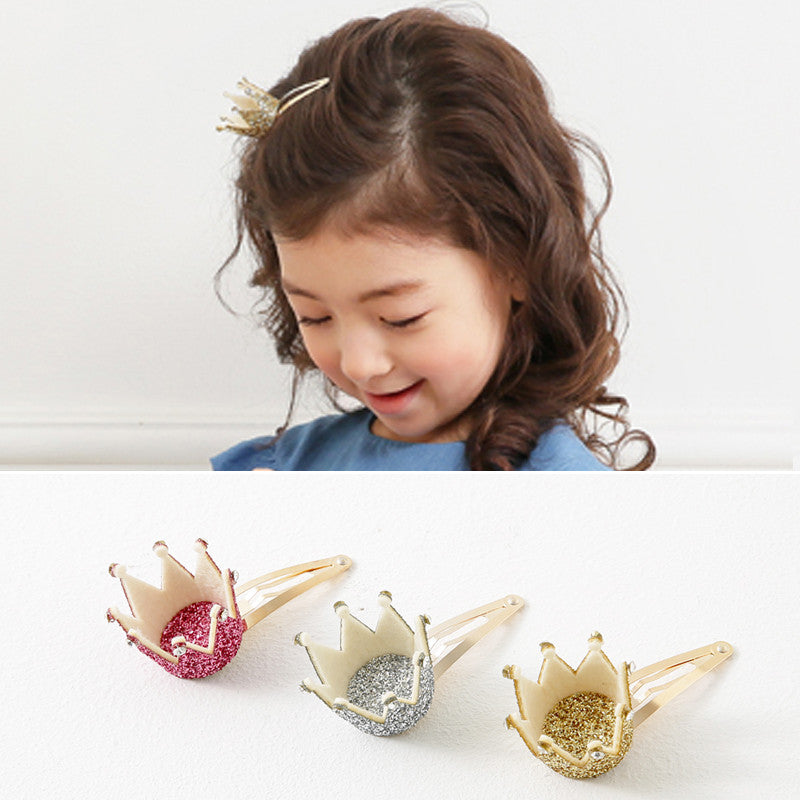 100% Handmade Kids Crown Hairclips A323G82A/B/C