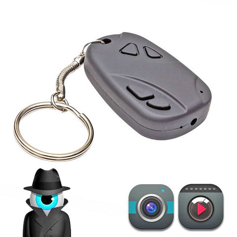 Mini Car Keyfob Hidden Spy Camera Video Recorder Peephole pinhole Keyring 808