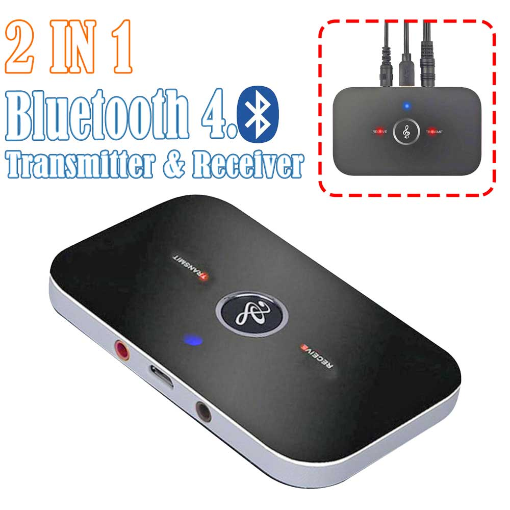 2in1 Wireless Bluetooth Transmitter /& Receiver A2DP Home TV Stereo Audio Adapter