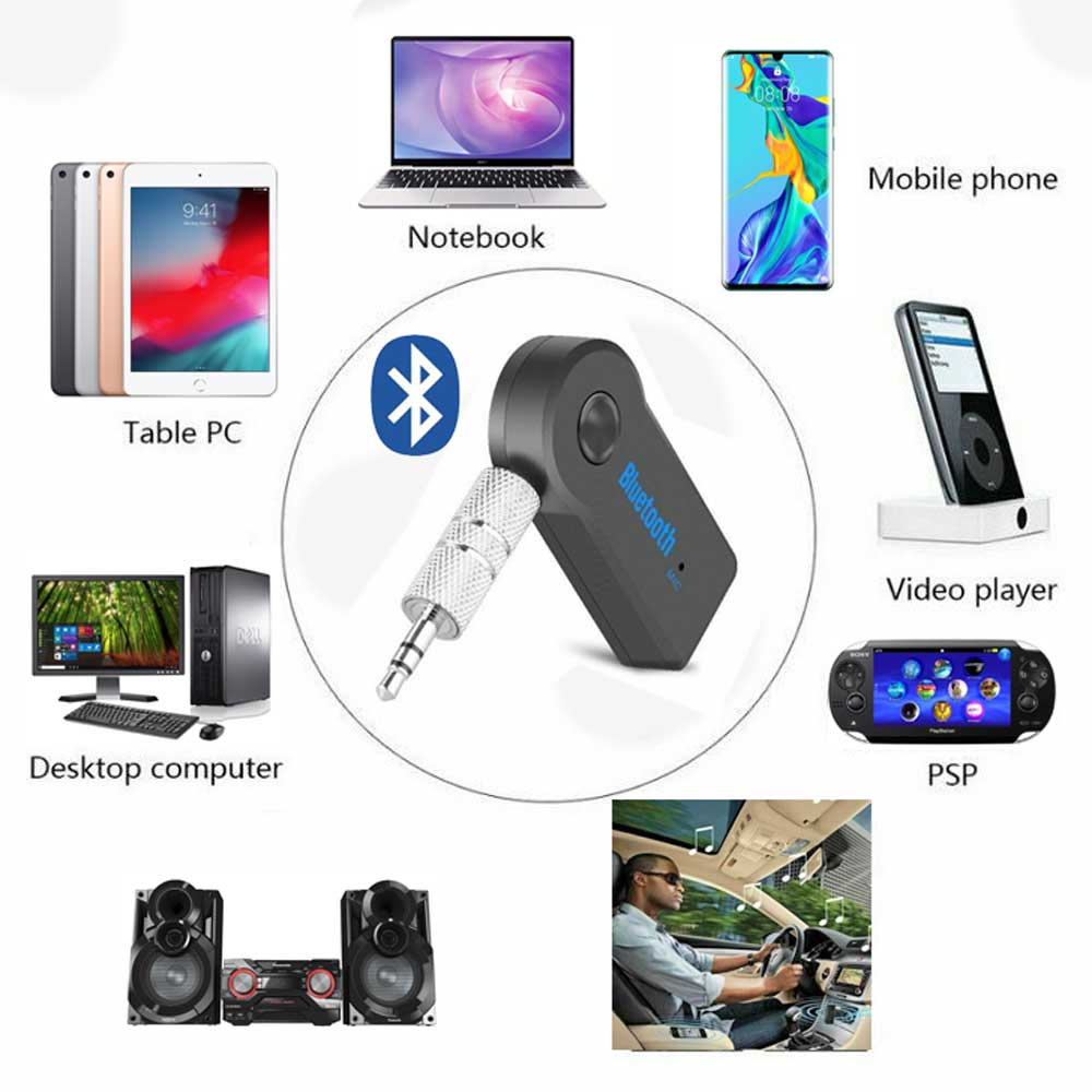 Wireless Bluetooth Receiver 3 5mm AUX Audio Stereo Music Home Car Adapter  Kit