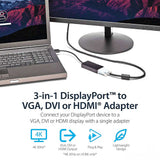 3-in-1-DisplayPort Multi Video Adapter Converter 1080p DP Laptop to HDMI VGA DVI Monitor Projector Display Male Female