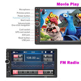 7 inch 2 DIN Touch Screen Car Stereo Radio MP5 Player Bluetooth Wireles FM MP3 USB AUX IN 7018B