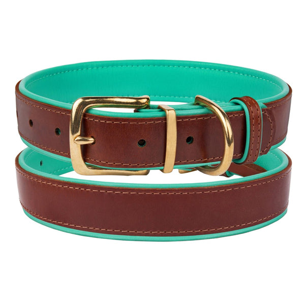 The Torquay Dog Collar - Cool Mint - [Product_type] - Owen & Edwin - Dog Coat - Dog Jacket - Pointer - Vizsla - German Shorthaired Pointer - Weimaraner - luxury