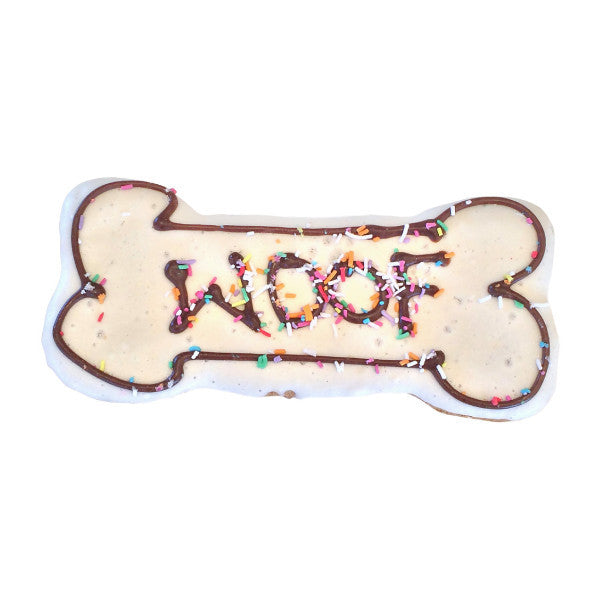 """Woof"" Bone Biscuit - [Product_type] - Owen & Edwin - Dog Coat - Dog Jacket - Pointer - Vizsla - German Shorthaired Pointer - Weimaraner - luxury"