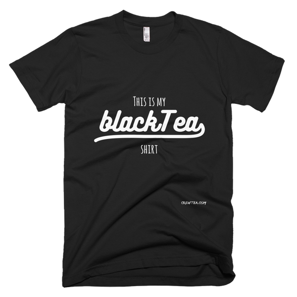 Short Sleeve Black Tea Funny T Shirt
