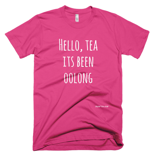Short Sleeve Oolong Tea Fuchsia T Shirt