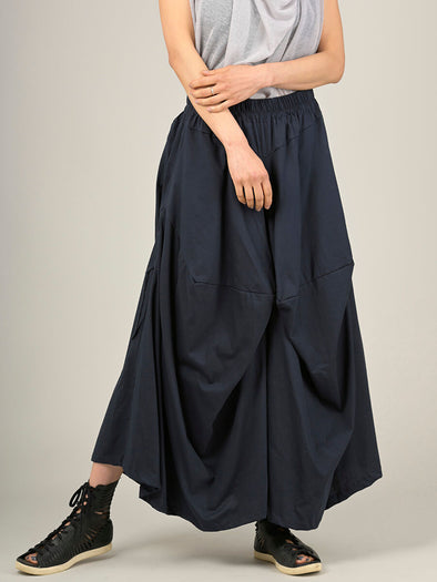 Wide Leg Culottes with Adjustable Side Drawstrings