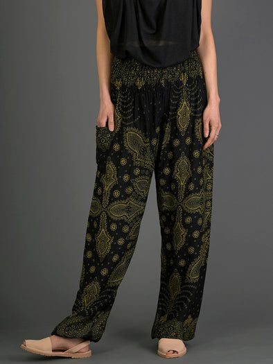 Feather Paisley Harem Pants - High Crotch