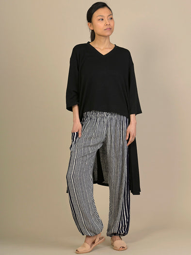Stripe Harem Pants - High Crotch