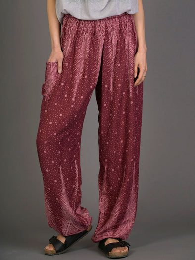 Peacock & Stars Harem Pants - High Crotch