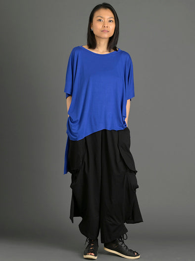 Oversized Fluid T-shirt with Side Slits