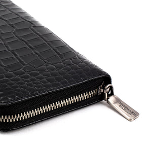 Elephant Garden Men's Crocodile Print Zip Around Wallet-W76208