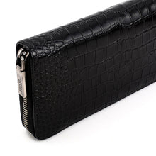 Load image into Gallery viewer, Elephant Garden Men's Crocodile Print Zip Around Wallet-W76208