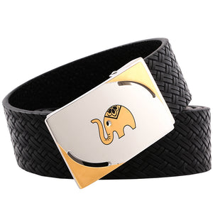 2019 new Style ELEPHANT GARDEN Men' s Leather Belt  Black B9101  One Size