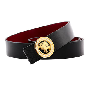 Elephant Garden Women's leather belt with Diamond Logo Buckle-B9809