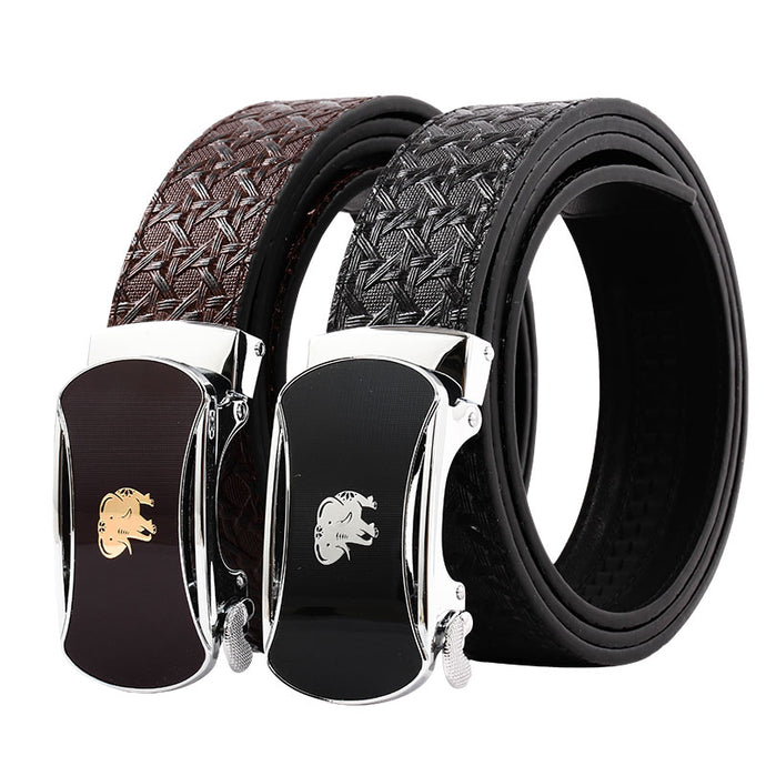 Elephant Garden Men' s Leather Belt with Automatic Buckle B9819  One Size