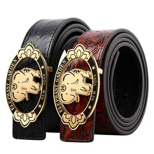 Load image into Gallery viewer, ELEPHANT GARDEN Unisex Retro Leather Belt with Golden Buckle B9105