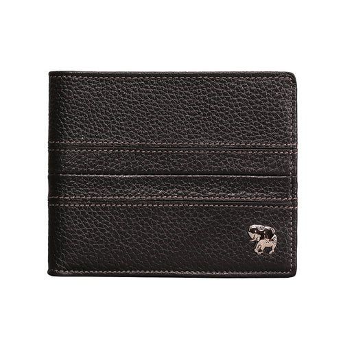 Elephant Garden Men's Leather Slim Bi-fold Wallet - W74205