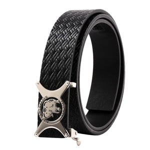 ELEPHANT GARDEN Men' s Leather Belt  with Automatic Buckle B9804
