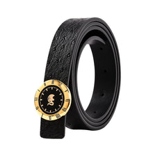Load image into Gallery viewer, Elephant Garden Women's leather belt with Watch Style Buckle-B9806