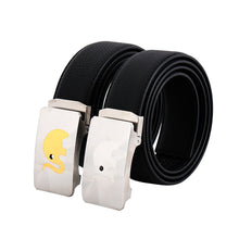 Load image into Gallery viewer, Elephant Garden Men's Leather Dress Belt with Steel Automatic Buckle-B8606