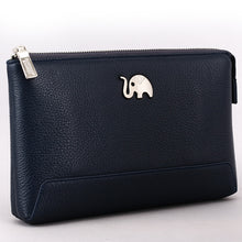 Load image into Gallery viewer, Elephant Garden Men's Zip-Top Leather Pouch  H84003