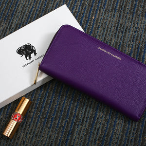 Elephant Garden women's Large Flat Multifunction Wallet-Multi-color  W76812