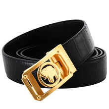 Load image into Gallery viewer, Elephant Garden Men's Crocodile Print Leather Belt with Automatic Logo Buckle  B8601