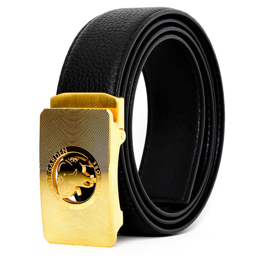 Elephant Garden Men's Classic Leather Dress Belt with Logo Buckle  B8607