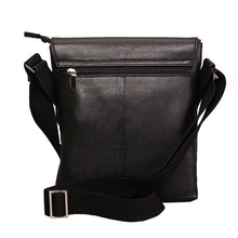 Load image into Gallery viewer, Elephant Garden Men's Leather Crossbody Bag-Black- H70427