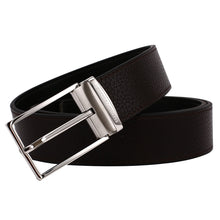Load image into Gallery viewer, Elephant Garden Men's Litchi Grain Leather Belt with Steel Buckle Black B7929