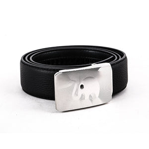 Elephant Garden Men's Leather Dress Belt with Steel Automatic Buckle-B8606