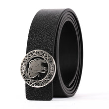 Load image into Gallery viewer, Elephant Garden Women's leather belt with Elephant Logo Buckle-B7226