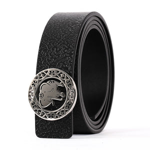 Elephant Garden Women's leather belt with Elephant Logo Buckle-B7226