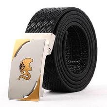 Load image into Gallery viewer, Men' s Leather Belt With Steel Buckle Black B9101  One Size