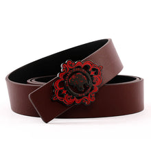 Load image into Gallery viewer, Elephant Garden Unisex Leather Belt with Elephant Logo Buckle  B9801