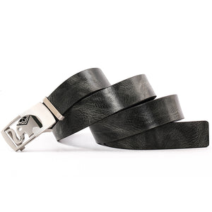 Elephant Garden Men' s Leather Belt with Automatic Buckle  Black B9102  One Size