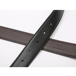 Elephant Garden Men's 3pcs Reversible Leather Belt Set (2 Buckles)- B7505
