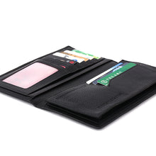 Load image into Gallery viewer, Elephant Garden Men's Smooth Leather Narrow Wallet-W75789