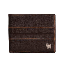 Load image into Gallery viewer, Elephant Garden Men's Leather Slim Bi-fold Wallet - W74205