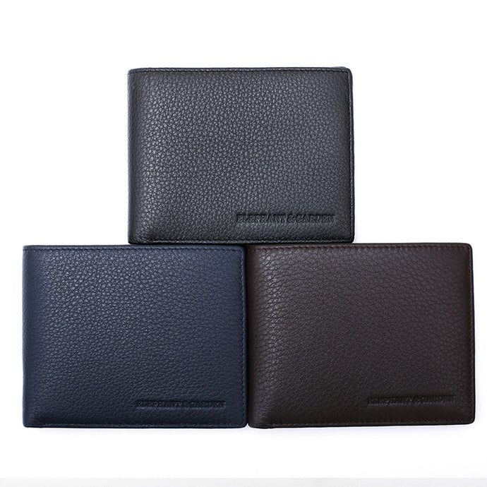 Elephant Garden Men's Leather Bi-fold Wallet Wallet - W75218