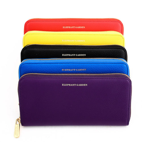 women's Large Flat Multifunction Wallet-Multi-color  W76812