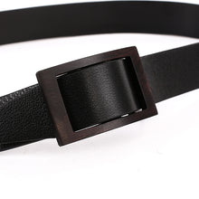 Load image into Gallery viewer, Elephant Garden Men's Classic Leather Belt with Sandal Buckle-Black-B7215