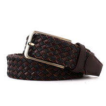 Load image into Gallery viewer, Elephant Garden Men's Braided Leather Belt with Simple Gift Box -B7204 B7205
