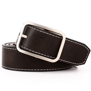 Elephant Garden Men's Reversible Belt with Metal Buckle-Coffee-B7202