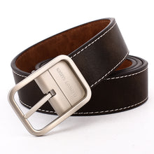 Load image into Gallery viewer, Elephant Garden Men's Reversible Belt with Metal Buckle-Coffee-B7202