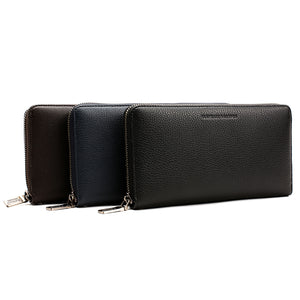 Elephant Garden Men's Smooth Leather Zip-Around Wallet W75217