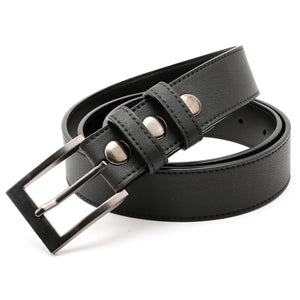 Elephant Garden Men's Genuine Leather Dress Belt with Steel Buckle-Black-B7608