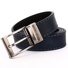 Load image into Gallery viewer, Elephant Garden Men's Reversible Casual Belt with Metal Buckle-Navy-B7203